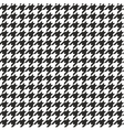 Houndstooth seamless black and white pattern vector image