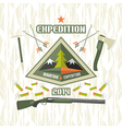 Expedition to the mountains vector image