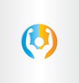 bodybuilder icon gym symbol vector image