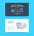 Business cards for chemical laboratory and vector image