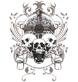 skull and cross vector image