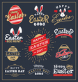 Set of Easter day typography badge and labels vector image