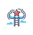 career ladder - modern line design icon vector image