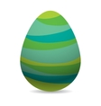 Color easter egg cartoon spring decoration and vector image