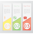 Design number banners template website layout vector image