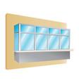 glazing of balconies icon vector image