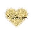 gold glitter heart golden sparcle st vector image