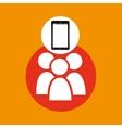 group mobile phone navigation vector image