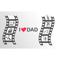 happy father s day moments on black film reel vector image