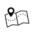 map icon image of a location map icon vector image