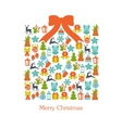 Stock of christmas giftbox set vector image