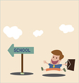 To school vector image
