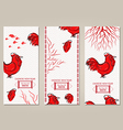Vertical Banners Set with Hand Drawn Chinese New vector image