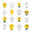 Idea lamp set vector image