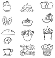 Element thanksgiving collection on doodles vector image