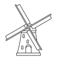 Windmill icon outline style vector image