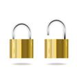 Iron lock vector image