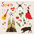 Spain set vector image