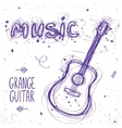 guitar doodle vector image vector image