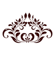 Floral ornament with leaves and swirls vector image vector image