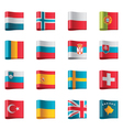 flags - europe part 3 vector image vector image