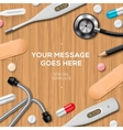 Healthcare and medicine template medical supplies vector image