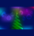 christmas colorful abstract background vector image