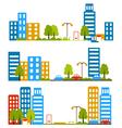 City street flat design housing neighborhood vector image