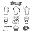 coffee icons isolated over white background vector image
