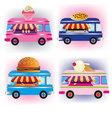 food vans vector image