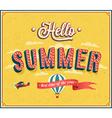 Hello summer typographic design vector image