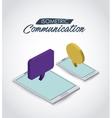 isometric communication icon design vector image