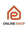 Origami online shop logo vector image