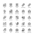 real estate line icons set 6 vector image