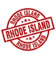 rhode island red round grunge stamp vector image
