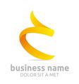 ribbon design shapes icon vector image