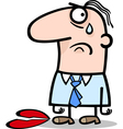 sad man on valentines day cartoon vector image