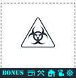 Virus icon flat vector image