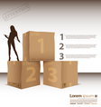 Box steps attention vector image
