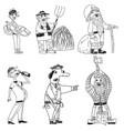 six strange men set vector image