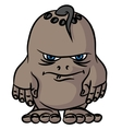 Small drawing an angry monster vector image