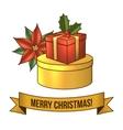 Christmas gift box icon vector image vector image