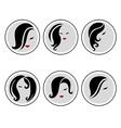 woman hair pics 3 vector image