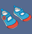 kid shoes vector image vector image