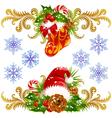 stocking santa vector image vector image