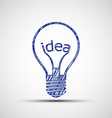 Bulb with the word idea vector image