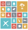 icons tile travel vector image vector image
