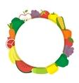 Healthy food round banner Vegetarian vector image
