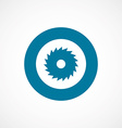 industrial saw bold blue border circle icon vector image