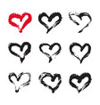 ink hearts card vector image